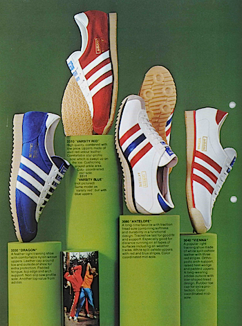 1974, adidas catalogue in English