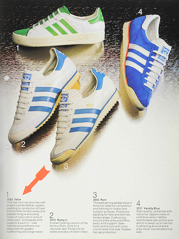 1978, adidas catalogue in English