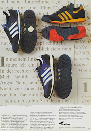 1980, adidas catalogue in German