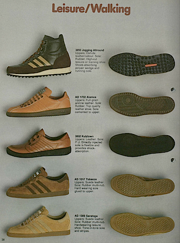 1981, adidas catalogue in English