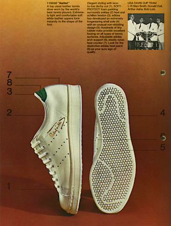 1971, adidas catalogue in English