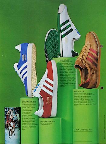1974, adidas catalogue in English