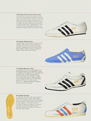 1970-1971, adidas catalogue in English